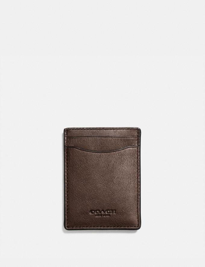Coach 3-In-1 Card Case Mahogany Men Wallet Guide