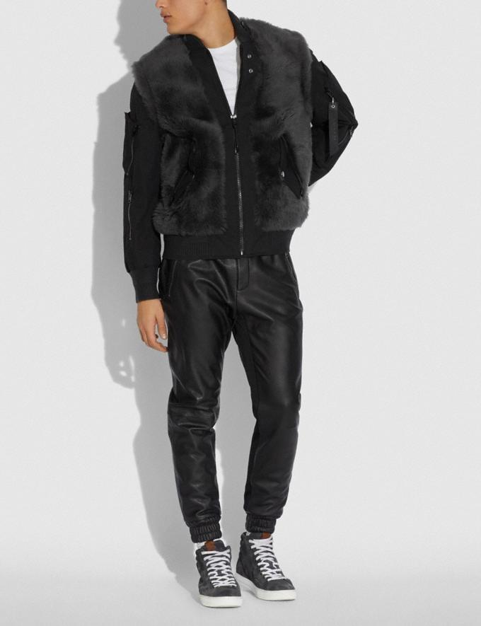 Coach Chaqueta De Borreguillo Ma-1 Gris Oscuro Hombre Prendas Abrigos y chaquetas Vistas alternativas 1