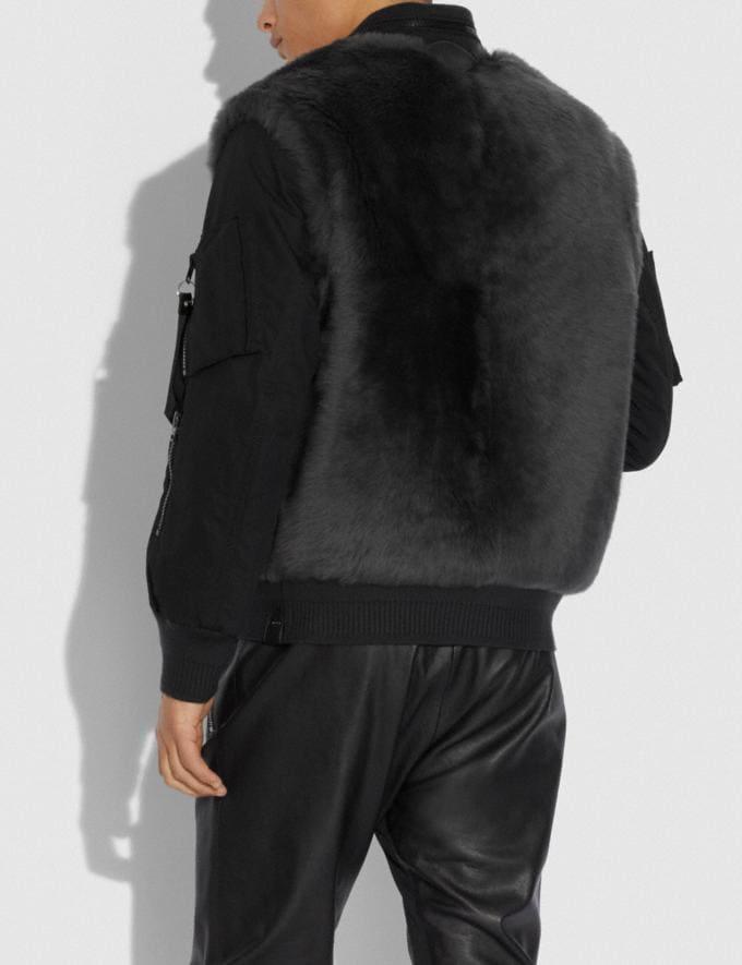 Coach Chaqueta De Borreguillo Ma-1 Gris Oscuro Hombre Prendas Abrigos y chaquetas Vistas alternativas 2