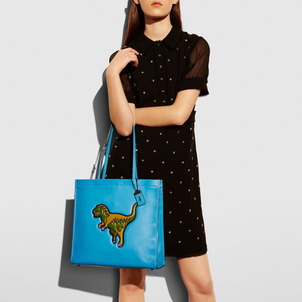T-Rex Skinny Tote in Glovetanned Leather - Alternate View A4