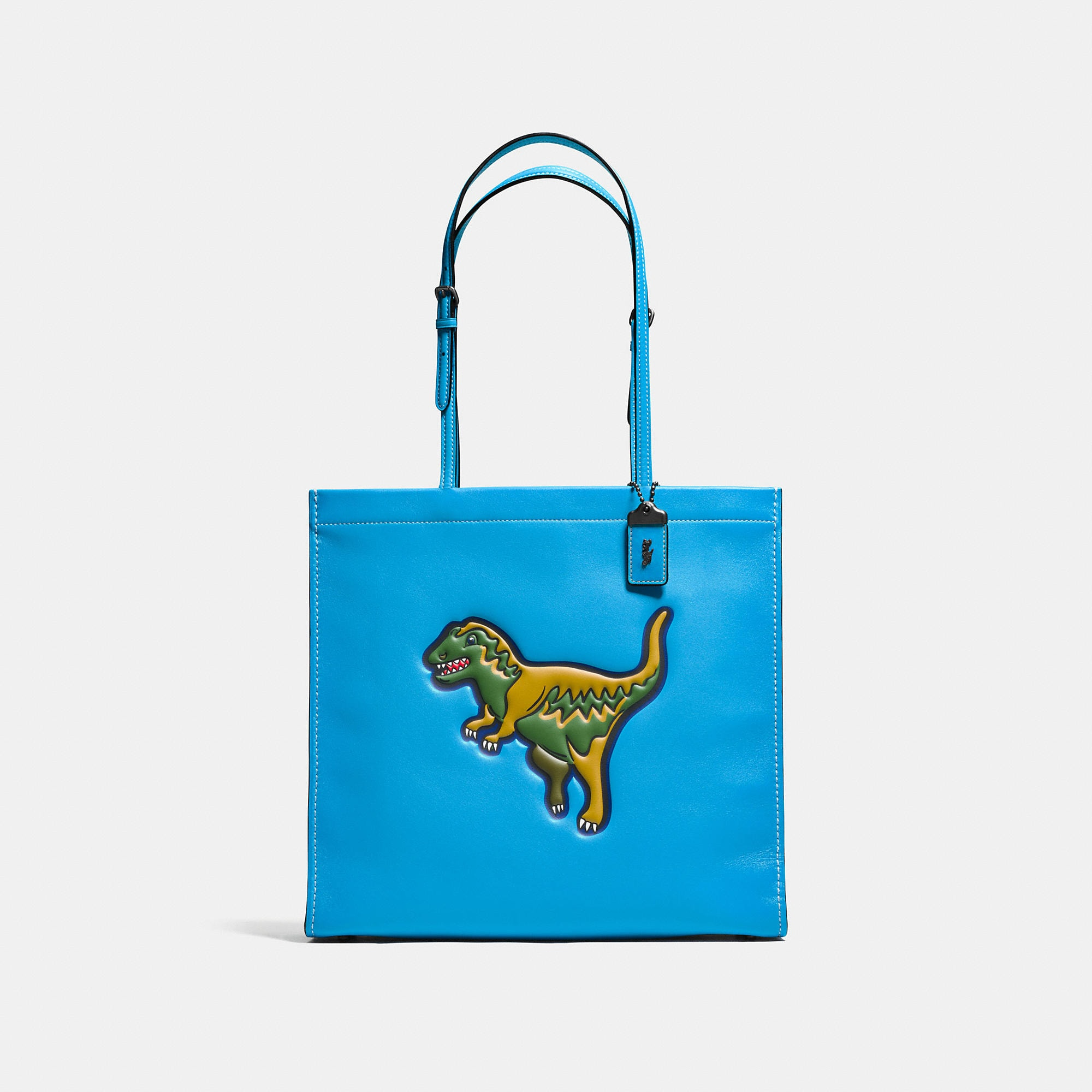 Coach T-Rex Skinny Tote In Glovetanned Leather