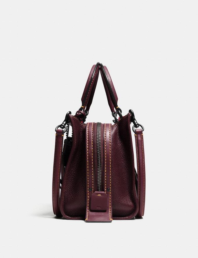 Coach Rogue 25 Oxblood/Black Copper Women Handbags Satchels & Top Handles Alternate View 1