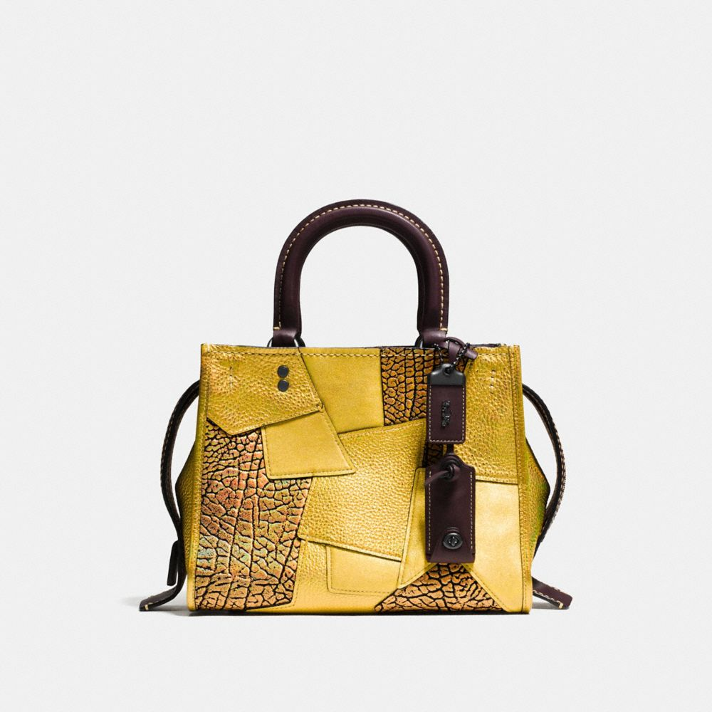 ROGUE BAG 25 IN METALLIC PATCHWORK LEATHER