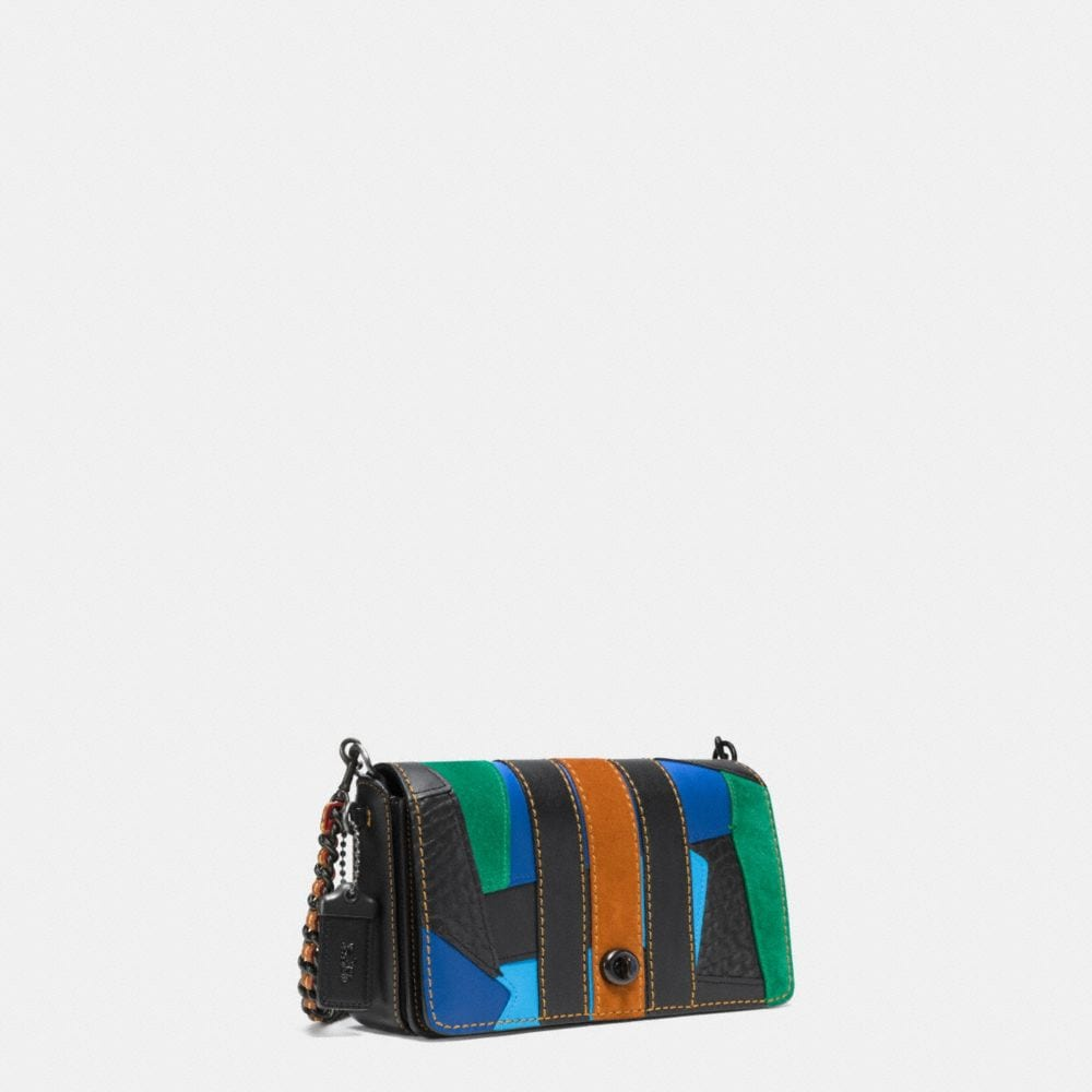 Varsity Patchwork Dinky Crossbody in Glovetanned Leather - Alternate View A2