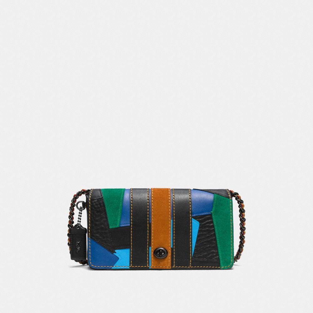Varsity Patchwork Dinky Crossbody in Glovetanned Leather