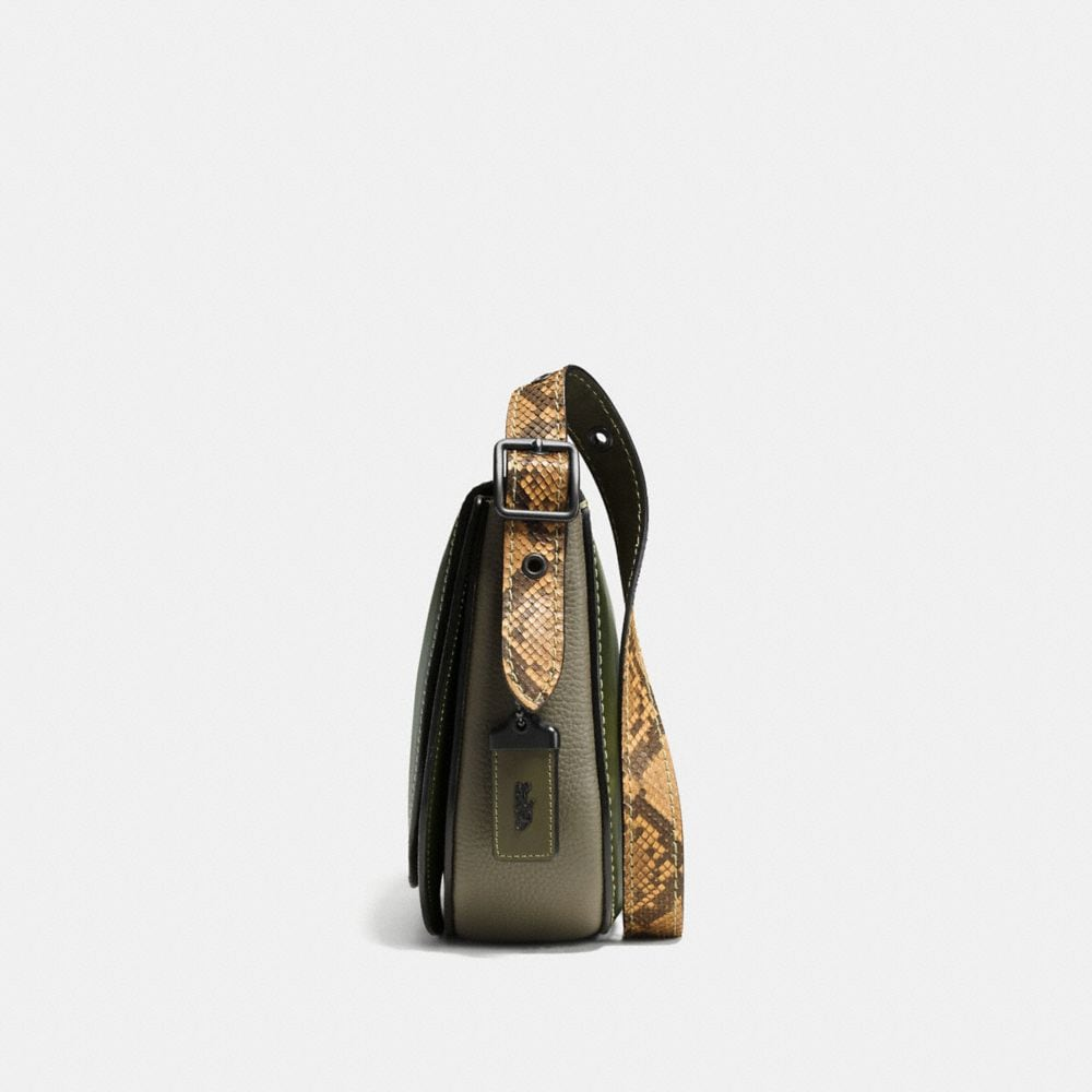 Coach Saddle Bag 23 in Colorblock Python Alternate View 1