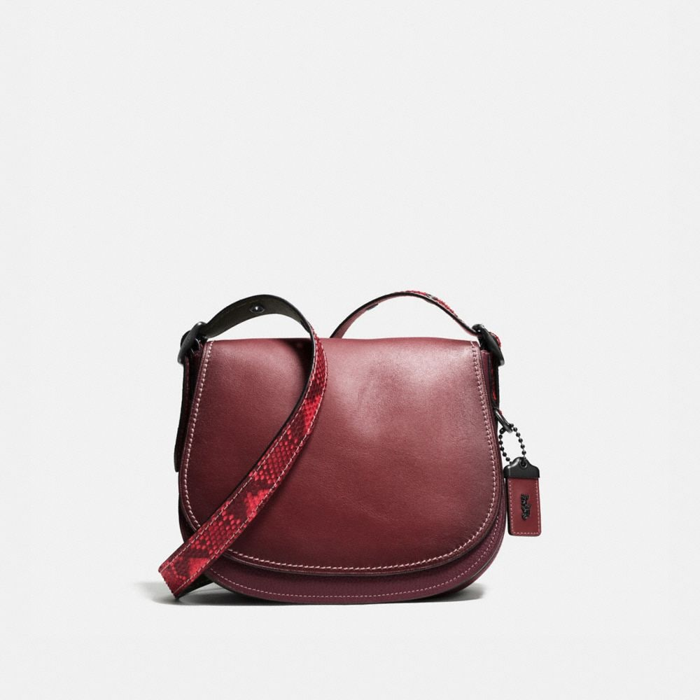 SADDLE BAG 23 IN COLORBLOCK PYTHON