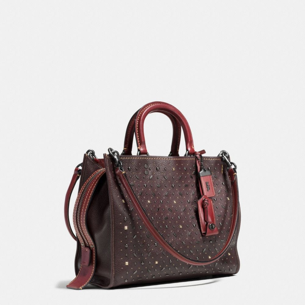 Coach Rivets Rogue Bag in Pebble Leather Alternate View 2