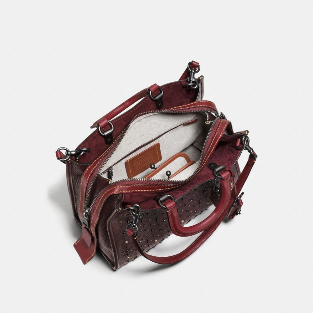 Coach Rivets Rogue Bag in Pebble Leather Alternate View 3