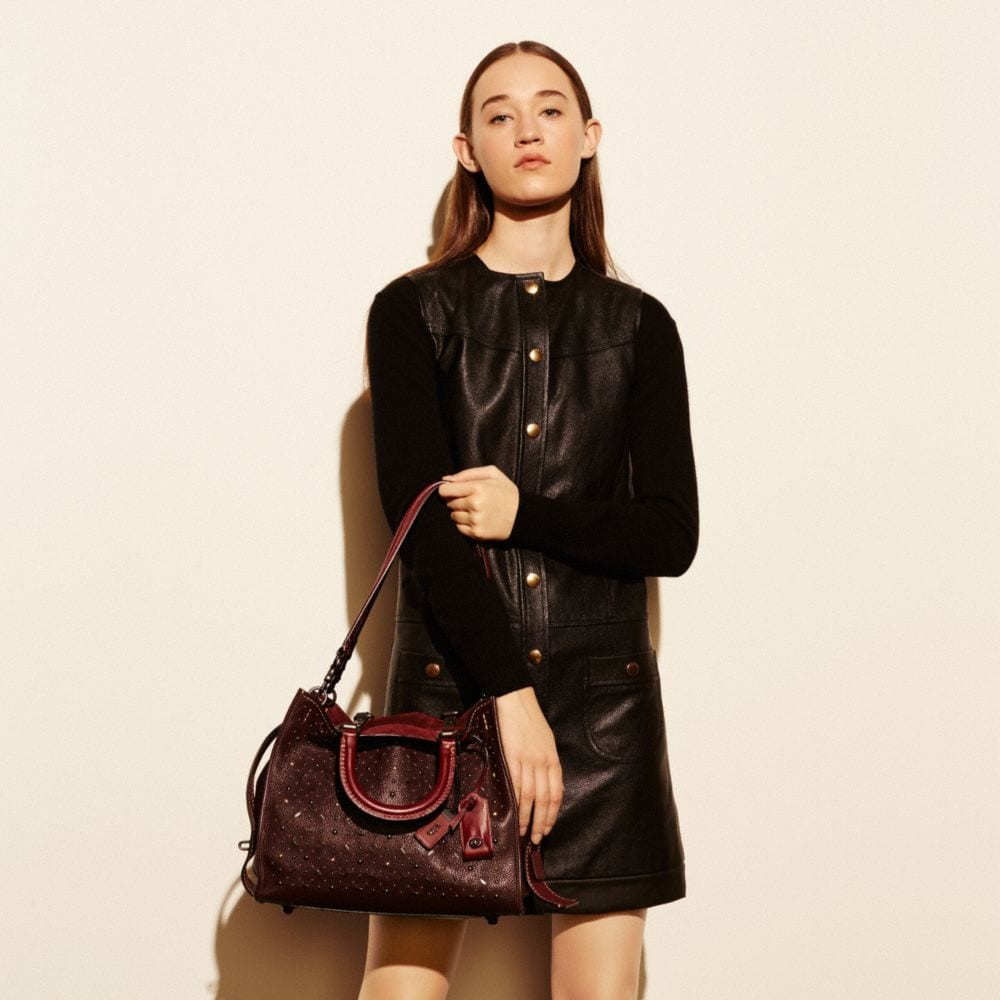 Coach Rivets Rogue Bag in Pebble Leather Alternate View 4