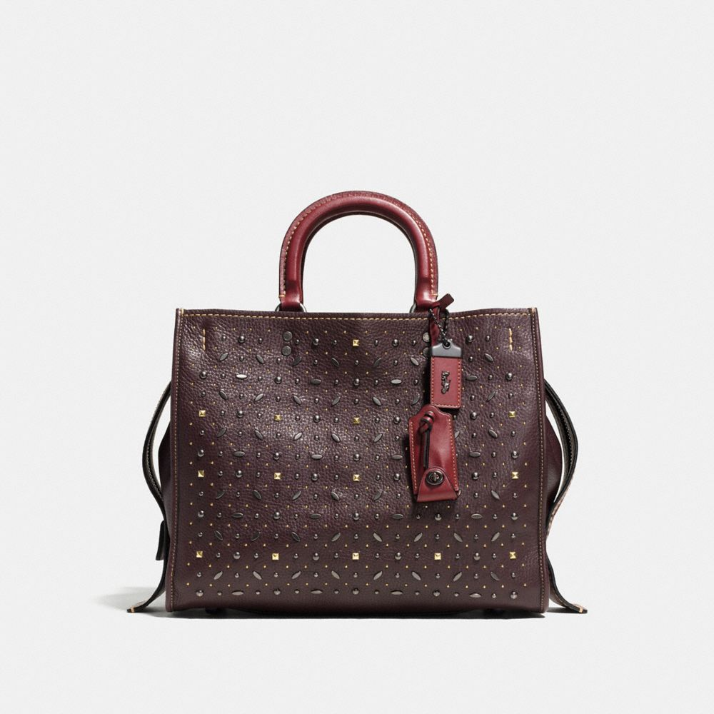 Coach Rivets Rogue Bag in Pebble Leather