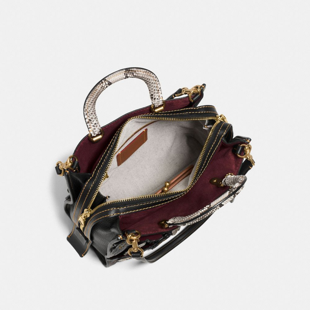 Tea Rose Applique Rogue Bag in Exotic Leather - Alternate View A3