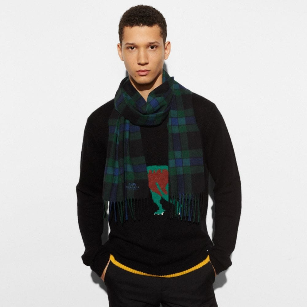 VARSITY CHECK PLAID SCARF