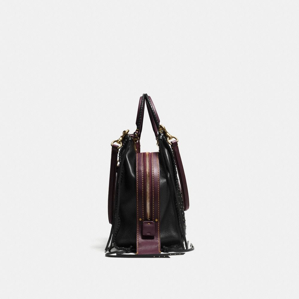 Coach Whiplash Rivets Rogue Bag 36 in Pebble Leather Alternate View 1