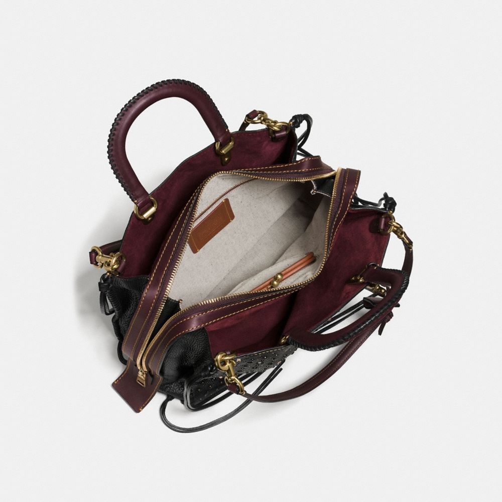 Coach Whiplash Rivets Rogue Bag 36 in Pebble Leather Alternate View 3