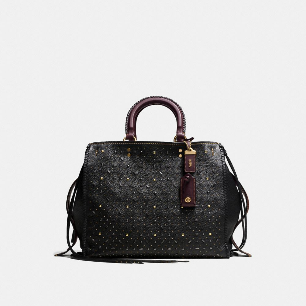 Coach Whiplash Rivets Rogue Bag 36 in Pebble Leather