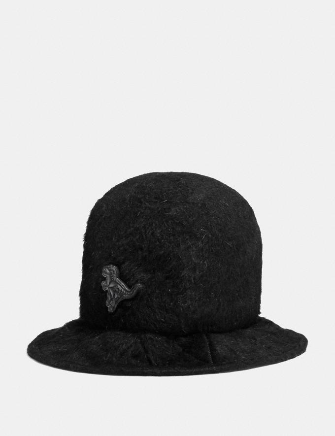 Coach Furry Felt Hat Black Men Ready-to-Wear Hats, Scarves & Gloves
