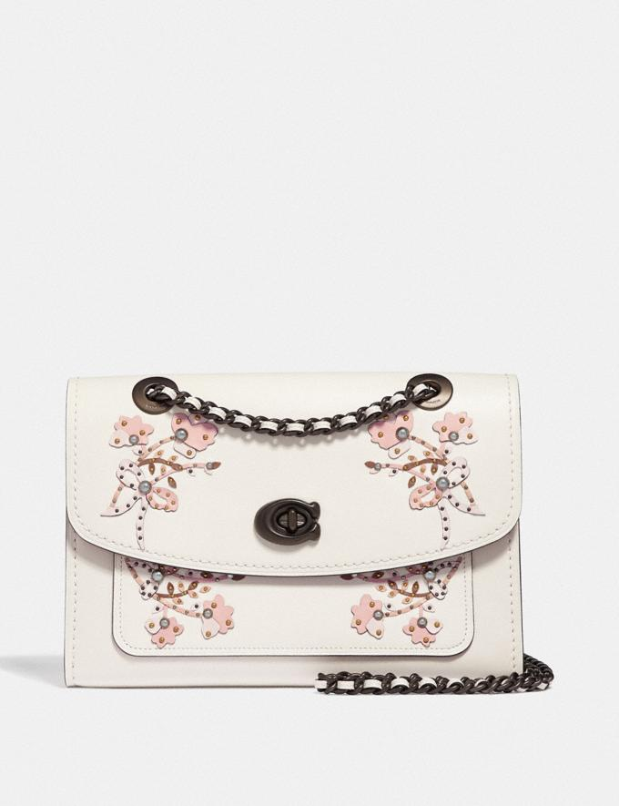 Coach Parker With Floral Embroidery Chalk/Pewter Women Bags Shoulder Bags