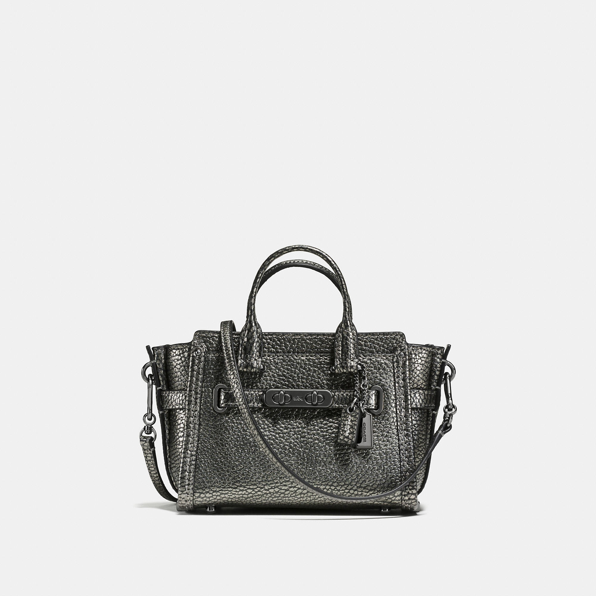 Coach Swagger 15 In Pebble Leather