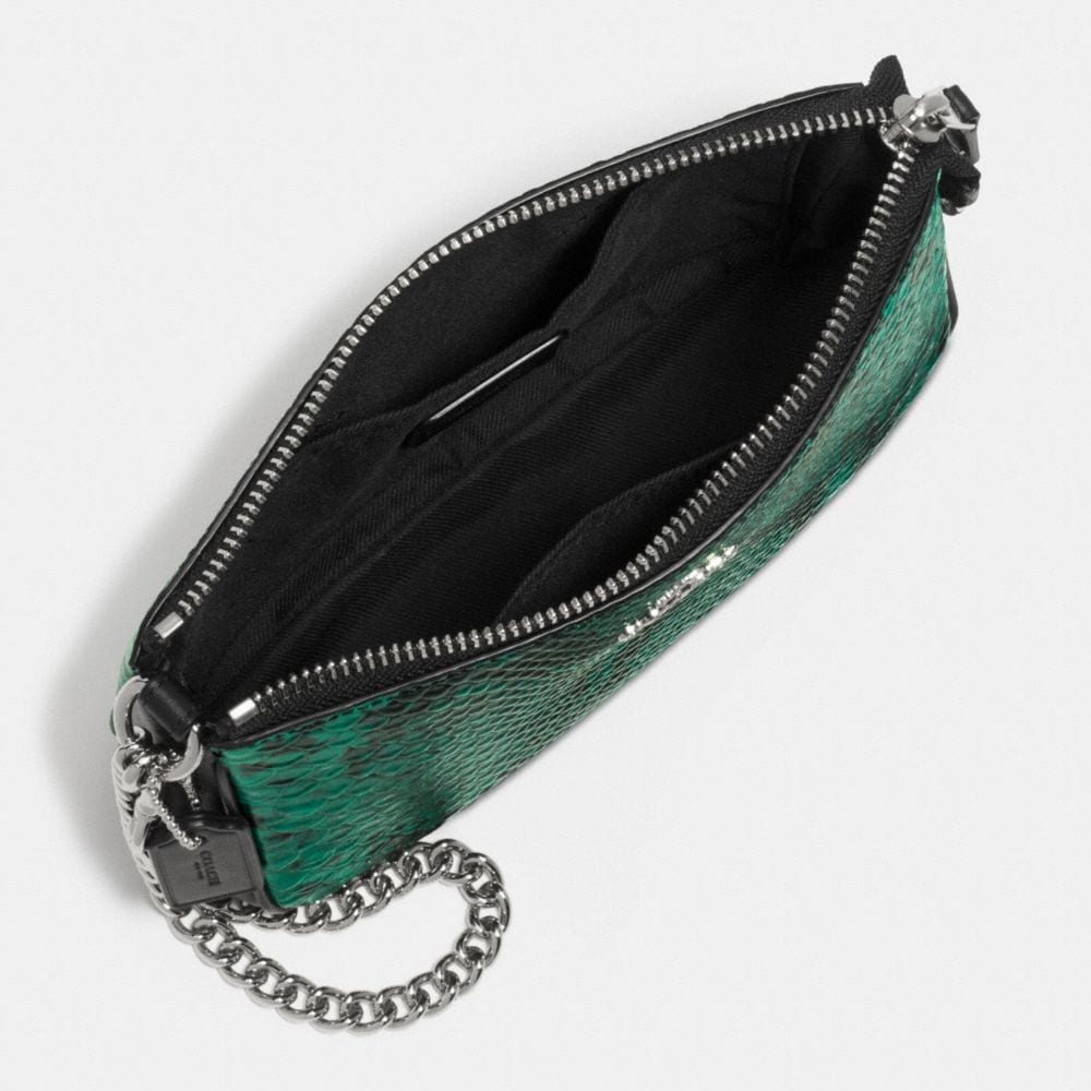 Nolita Wristlet 19 in Python Embossed Leather - Alternate View A1