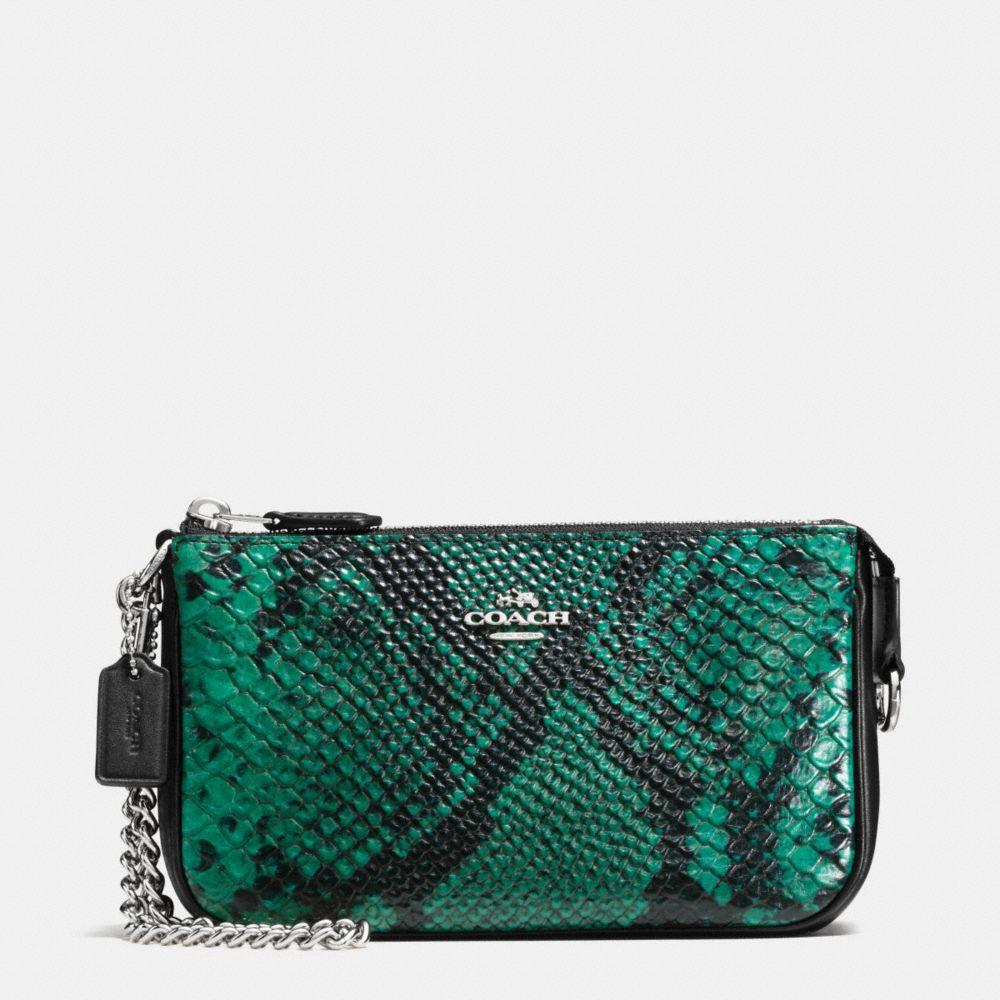Nolita Wristlet 19 in Python Embossed Leather