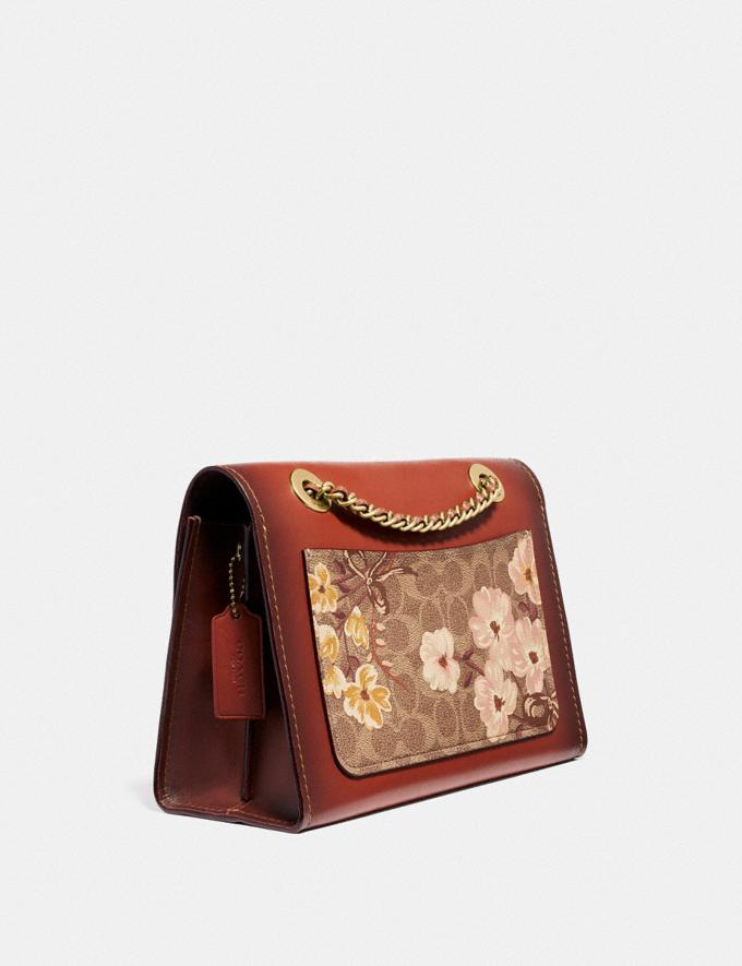 Coach Parker in Signature Canvas With Prairie Floral Print Tan/Rust Bow/Brass New Featured Signature Styles Alternate View 1