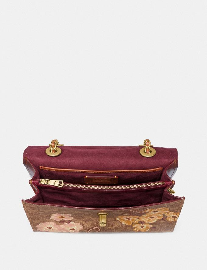 Coach Parker in Signature Canvas With Prairie Floral Print Tan/Rust Bow/Brass New Featured Signature Styles Alternate View 3