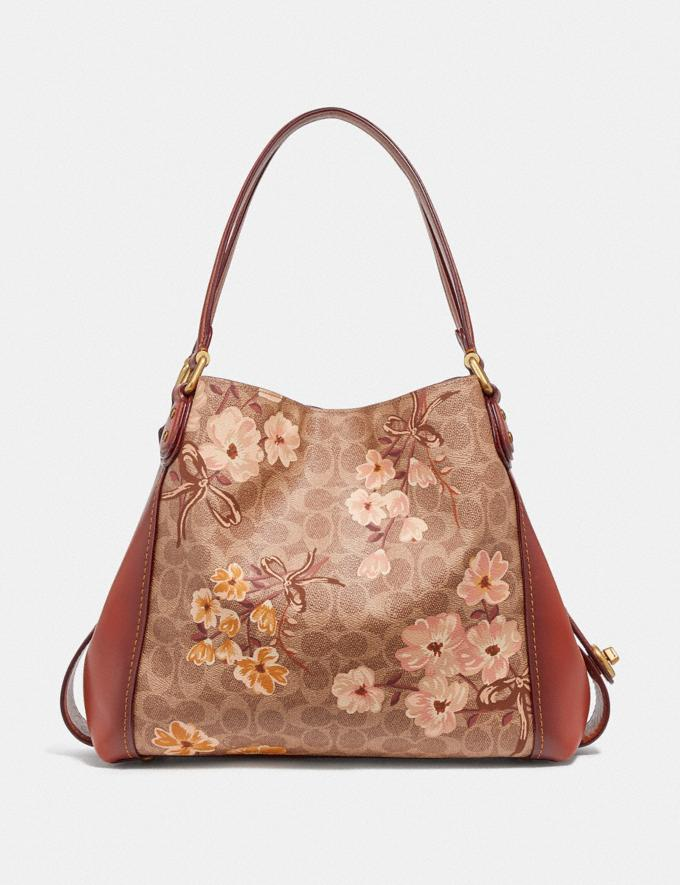 Coach Edie Shoulder Bag 31 in Signature Canvas With Prairie Floral Print Tan/Rust Bow/Brass Women Bags Shoulder Bags Alternate View 2