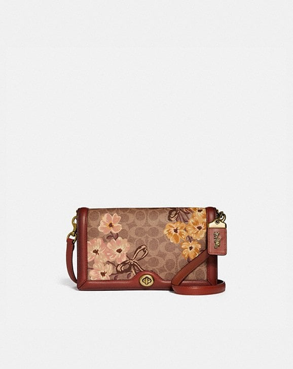 Coach RILEY IN SIGNATURE CANVAS WITH PRAIRIE FLORAL PRINT