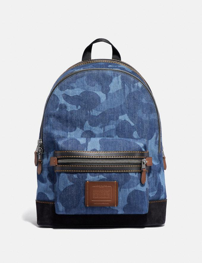 Coach Academy Backpack With Wild Beast Print Blue/Black Copper SALE Men's Sale