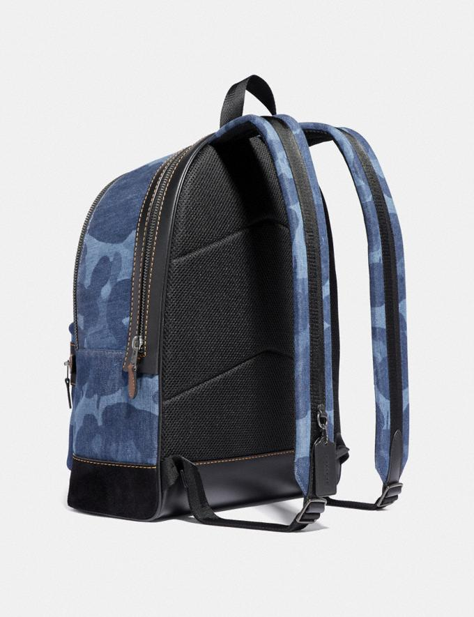 Coach Academy Backpack With Wild Beast Print Blue/Black Copper SALE Men's Sale Alternate View 1