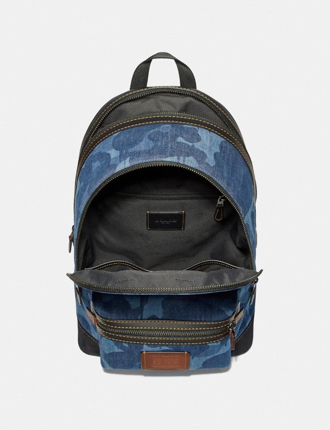 Coach Academy Backpack With Wild Beast Print Blue/Black Copper SALE Men's Sale Alternate View 2