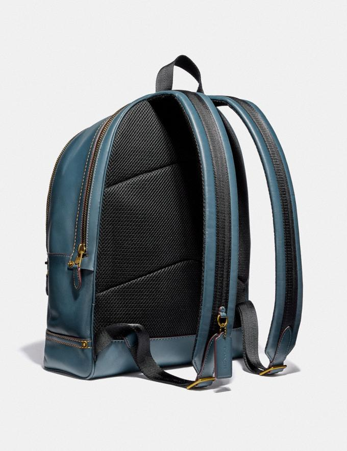 Coach Academy Backpack Denim/Brass SALE Men's Sale Alternate View 1