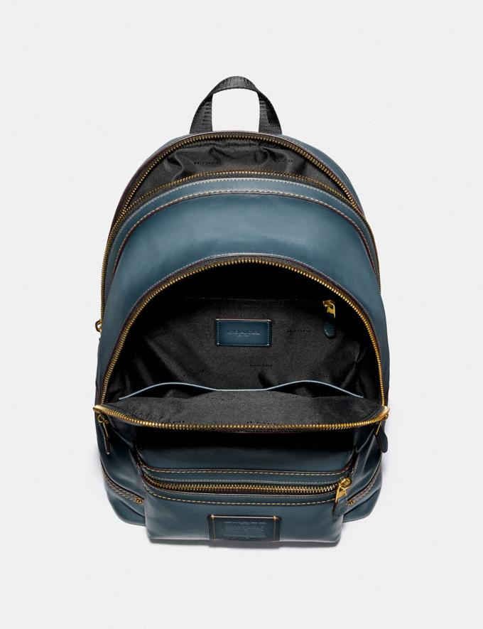 Coach Academy Backpack Denim/Brass Men Bags Backpacks Alternate View 2