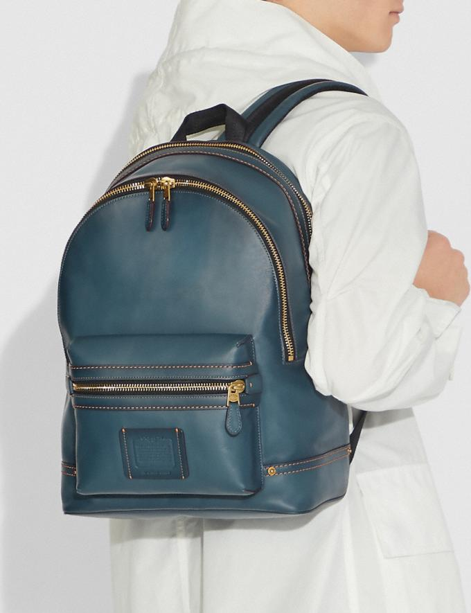 Coach Academy Backpack Denim/Brass SALE Men's Sale Alternate View 3