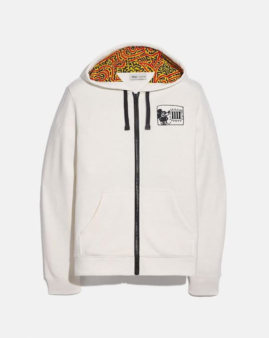 DISNEY MICKEY MOUSE X KEITH HARING FULL ZIP HOODIE