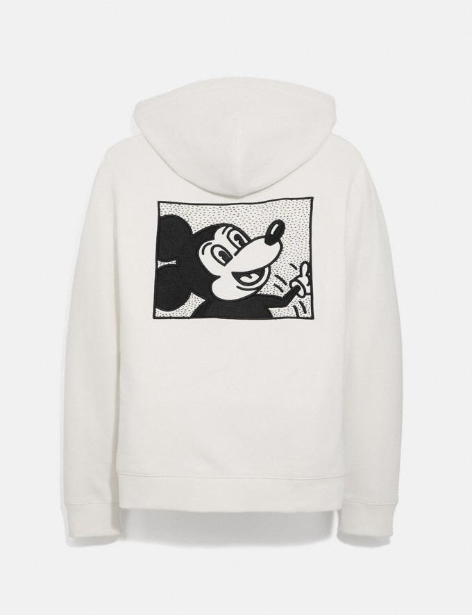 Coach Disney Mickey Mouse X Keith Haring Full Zip Hoodie White Men Ready-to-Wear Tops & Bottoms Alternate View 1