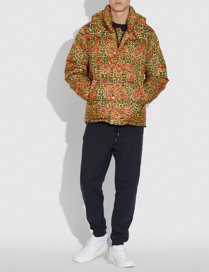 Coach Disney Mickey Mouse X Keith Haring Daunenjacke Gelb Mehrfarbig Herren Kleidung Mäntel & Jacken Alternative Ansicht 1