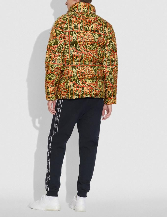 Coach Disney Mickey Mouse X Keith Haring Puffer Yellow Multicolor Men Ready-to-Wear Coats & Jackets Alternate View 2