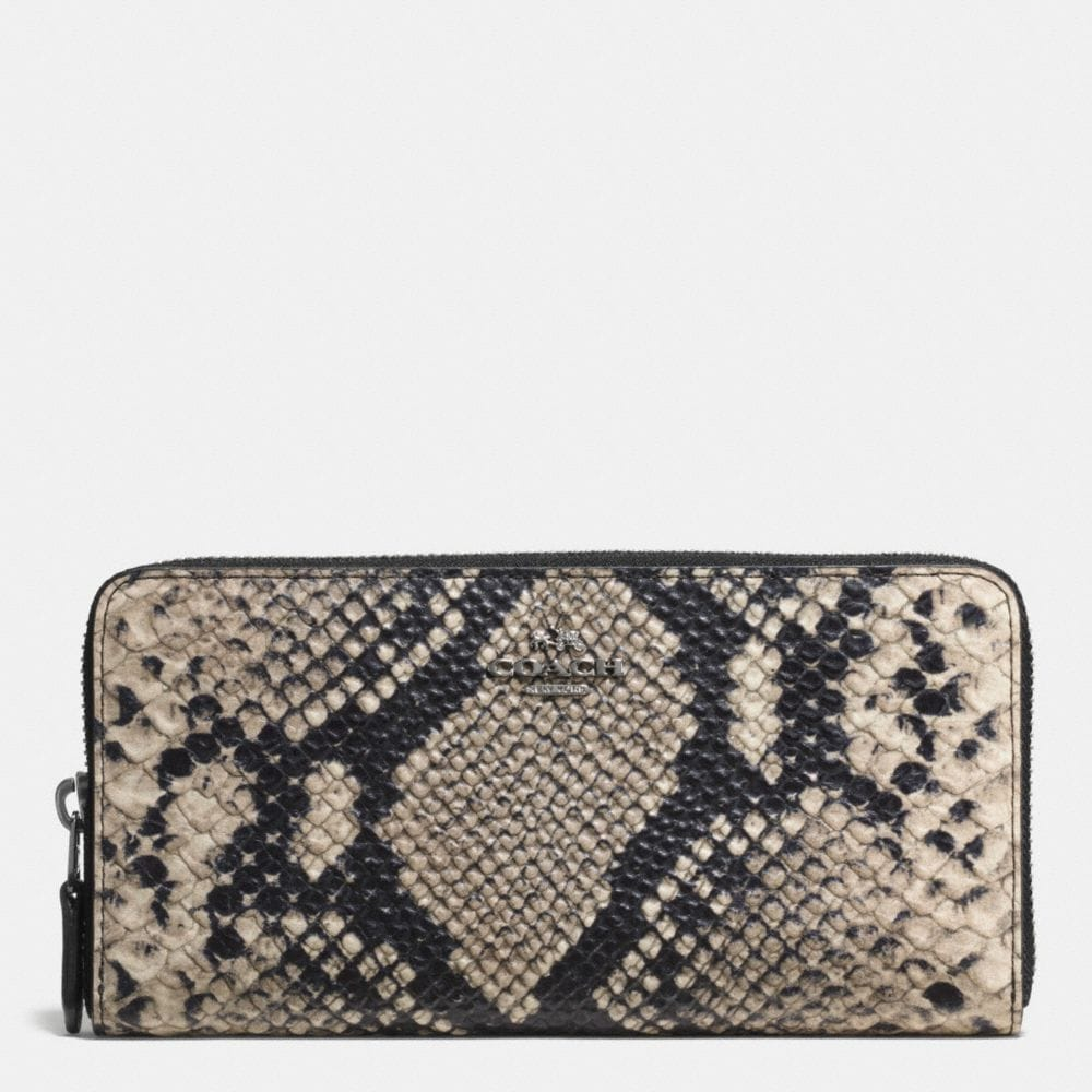 Accordion Zip Wallet in Python Embossed Leather