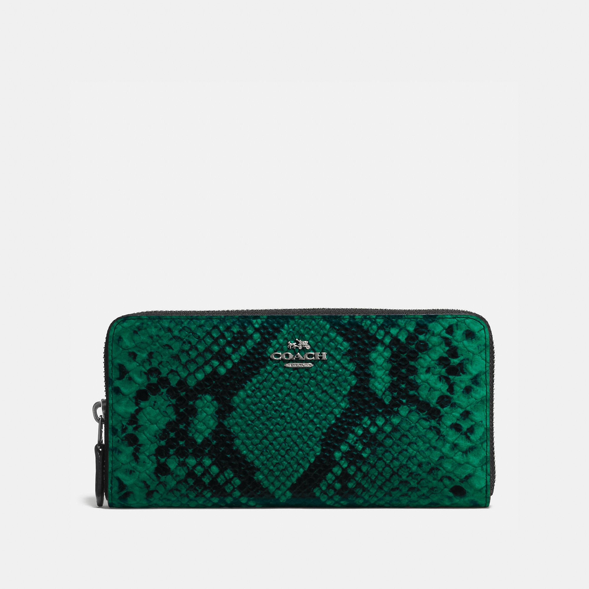 Coach Accordion Zip Wallet In Python Embossed Leather