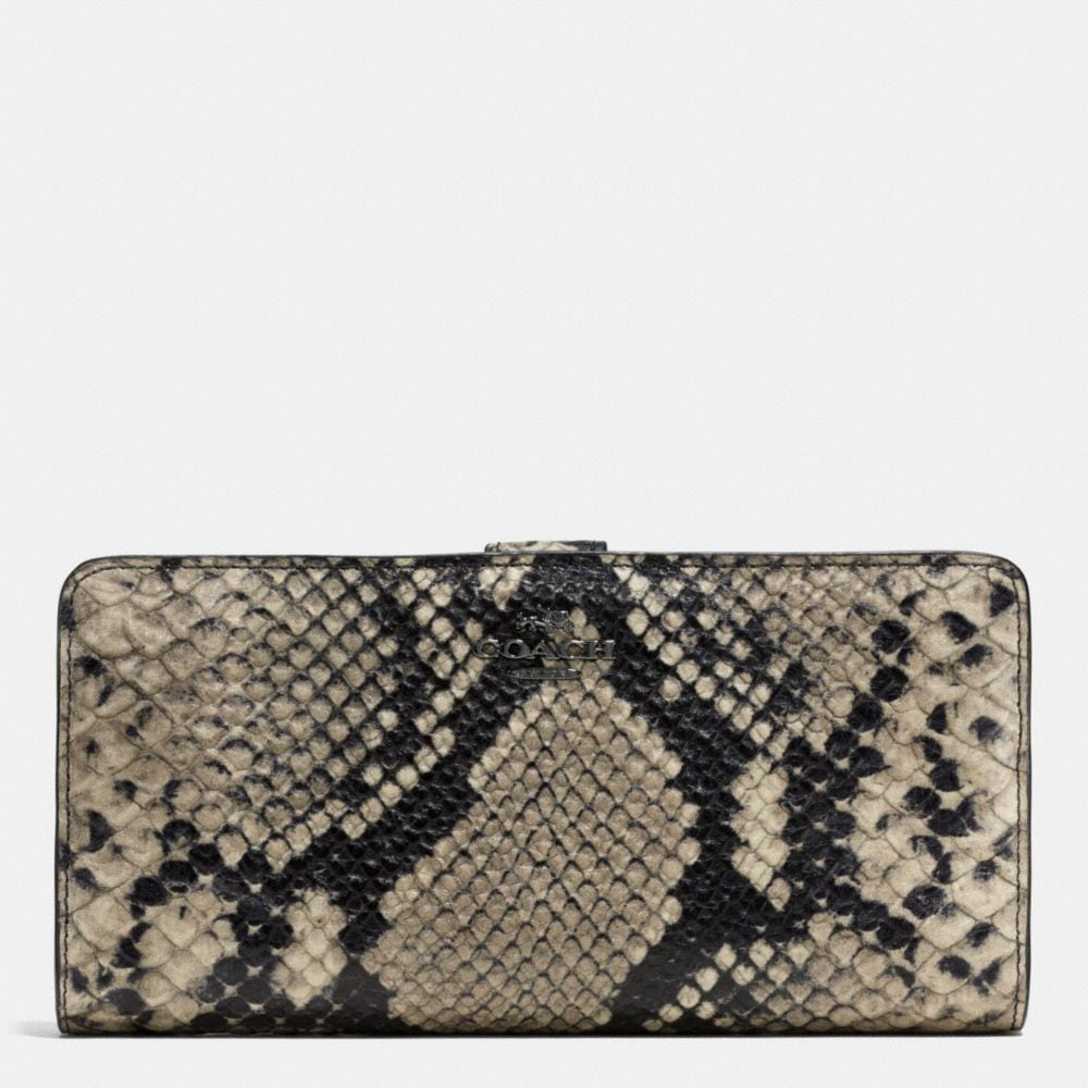 SKINNY WALLET IN PYTHON EMBOSSED LEATHER