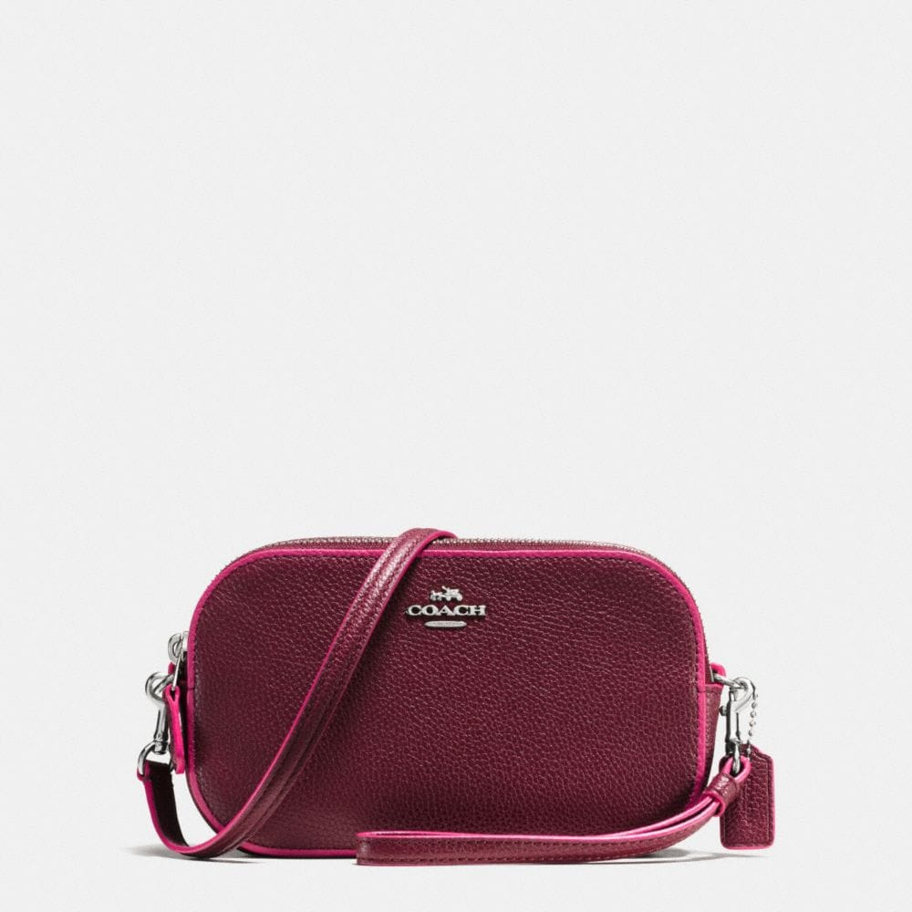 CROSSBODY CLUTCH IN EDGESTAIN LEATHER