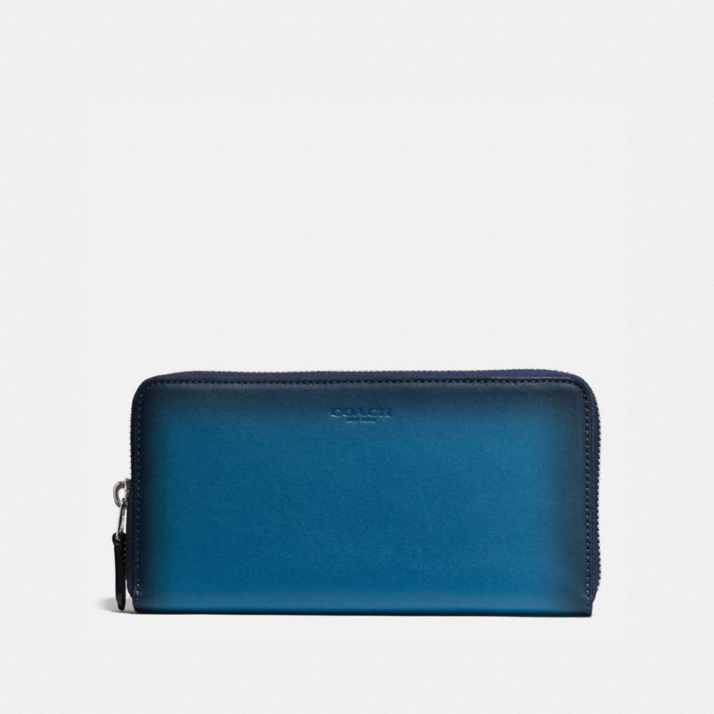 ACCORDION ZIP WALLET IN BURNISHED GLOVETANNED LEATHER