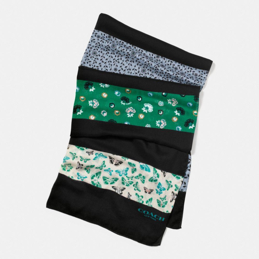 butterfly patchwork oblong scarf