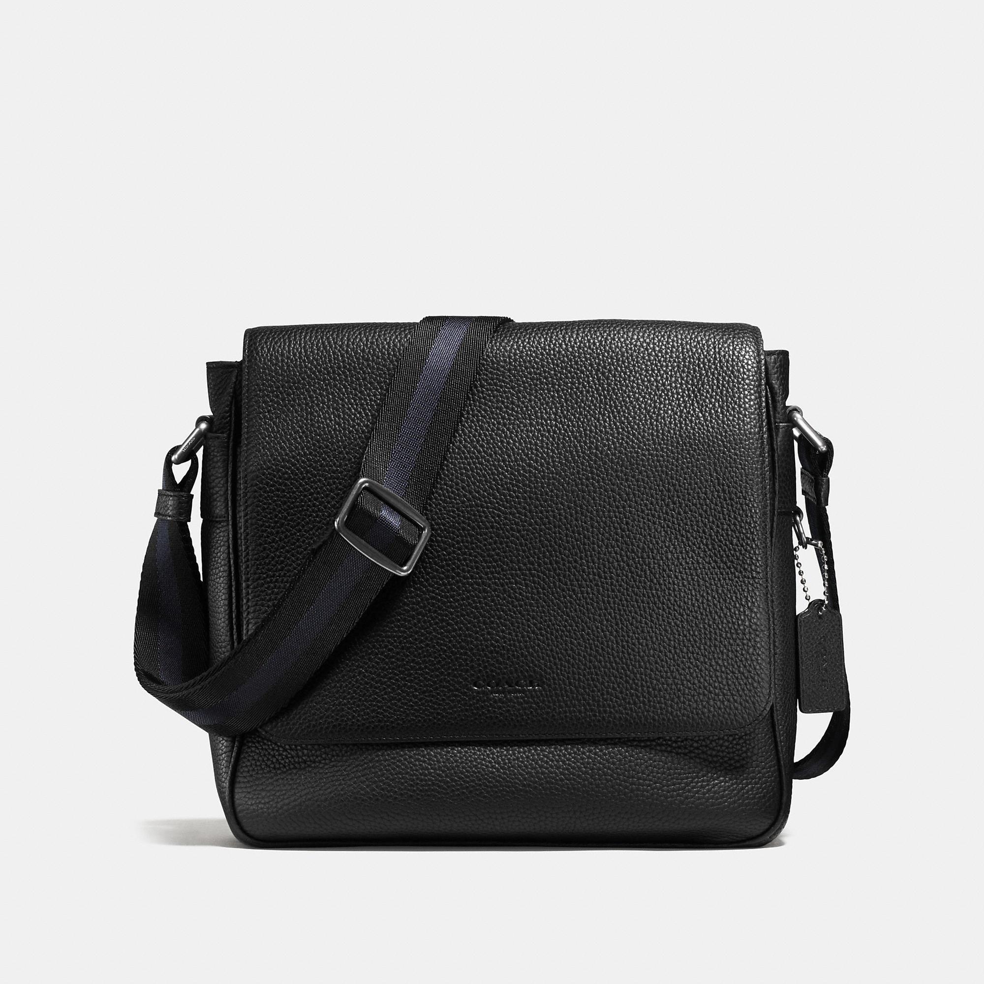 Coach Metropolitan Map Bag In Pebble Leather