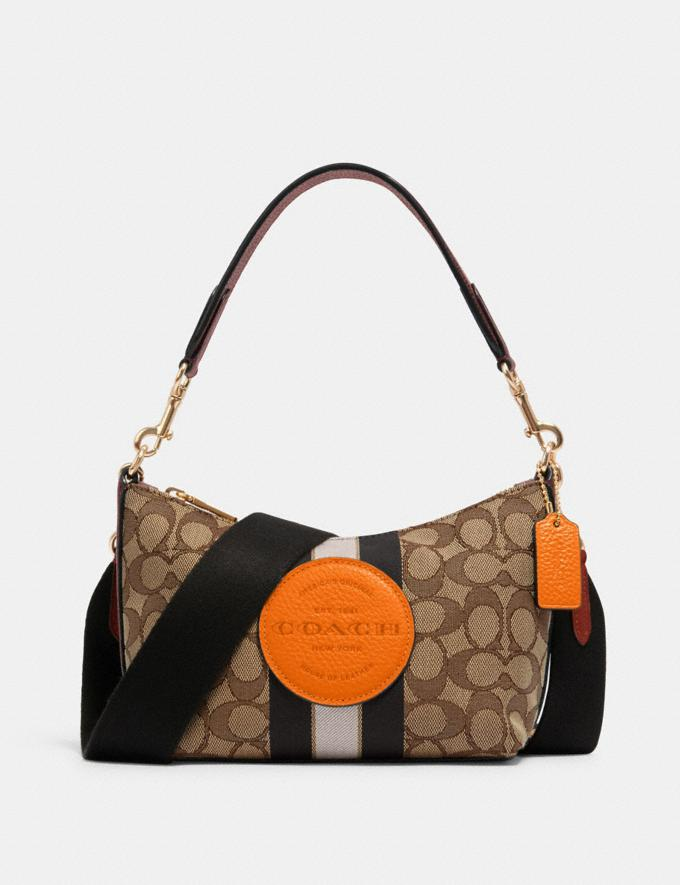 Coach Dempsey Shoulder Bag in Signature Jacquard With Stripe and Patch Im/Khaki Sunbeam Multi DEFAULT_CATEGORY