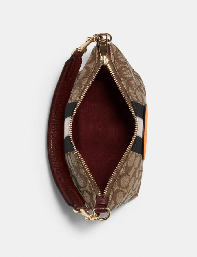 Coach Dempsey Shoulder Bag in Signature Jacquard With Stripe and Patch Im/Khaki Sunbeam Multi DEFAULT_CATEGORY Alternate View 2