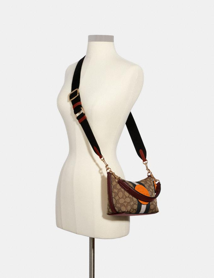 Coach Dempsey Shoulder Bag in Signature Jacquard With Stripe and Patch Im/Khaki Sunbeam Multi DEFAULT_CATEGORY Alternate View 3