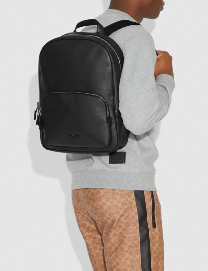 Coach Kennedy Backpack Black/Silver Gift For Him Bestsellers Alternate View 3